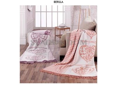 Aksu Blanket With Cotton Single Berilla Lila