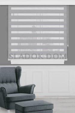 Thick Grey Blackout Zebra Curtain (Roller Blind)