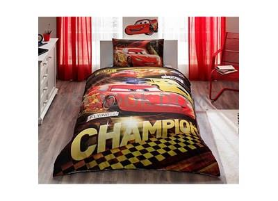 Tac Licensed Disney Cars Champion Single Duvet Cover Set