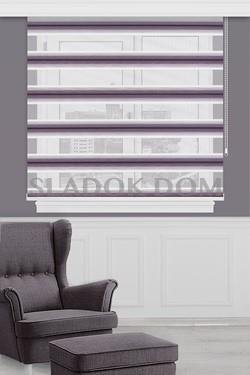 Purple with Plush Zebra Curtain (Roller Blind)